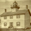 The Raspberry Island lighthouse, around 1900.