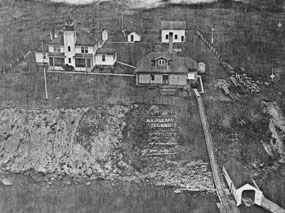 Raspberry Island Lightstation 1940s aerial