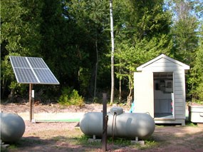 Solar and Propane power on Rocky Island