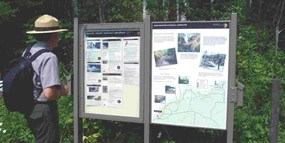 Mainland Trailhead Bulletin Board