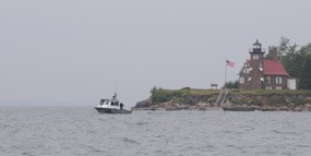 Biodiesel powered NPS boat off Sand Island
