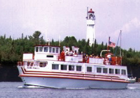 Island Princess near Devils Island - Apostle Islands Cruise Service