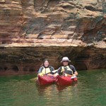 Kayakers at the Mainland Caves