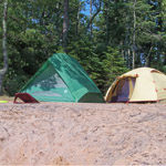 Two tents at Presque Isle