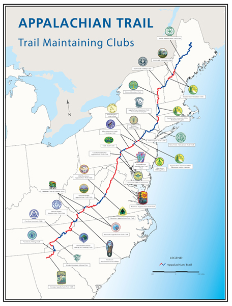 A.T. Trail-Maintaining Clubs