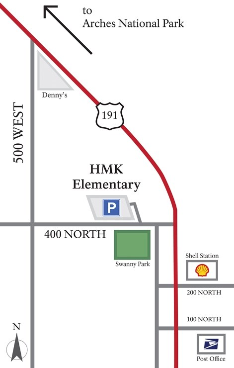 Location map of HMK Elementary