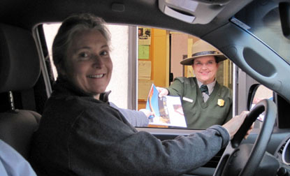 Victoria Carlson, the one-millionth visitor to Arches during 2010.