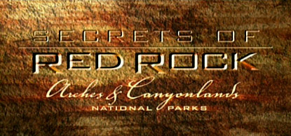The title frame from Secrets of Red Rock