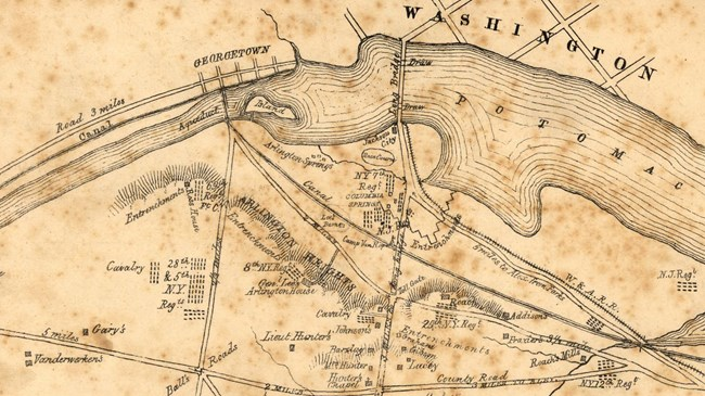 Civil War map of Arlington