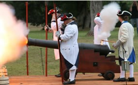 NPS volunteers fire 6lb cannon