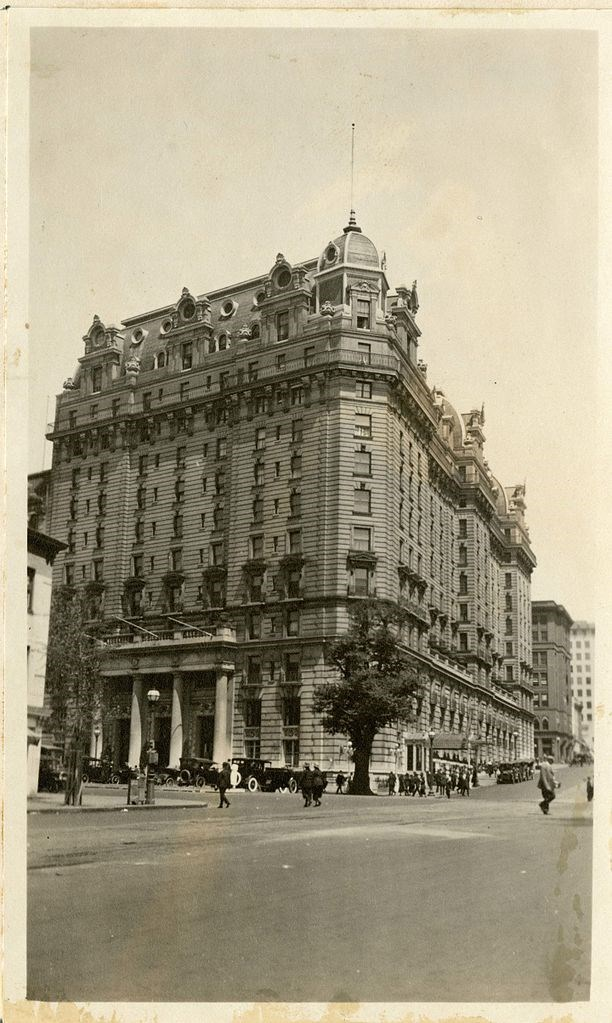 exterior of Willard hotel in DC Smithsonian Collections