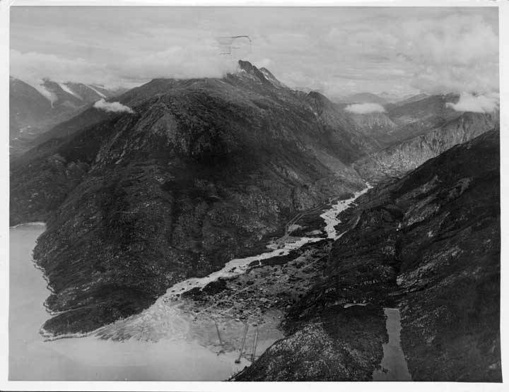 view of skagway from air 1923