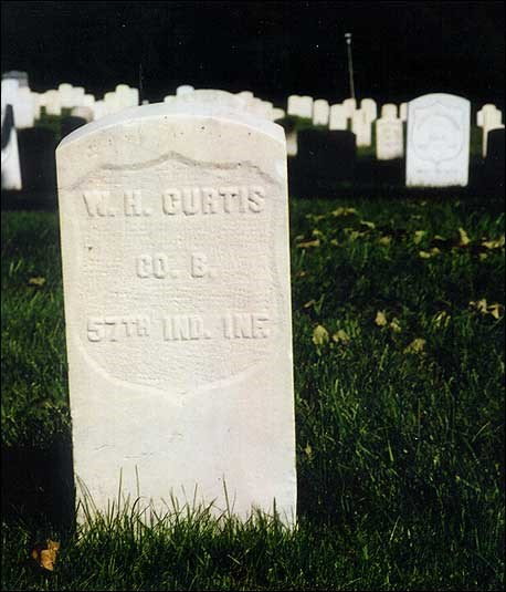 Present-day photo of grave marker.(Courtesy of U.S. Department of Veterans Affairs)