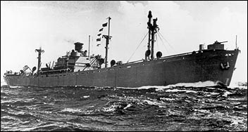Photo of a Liberty Ship.