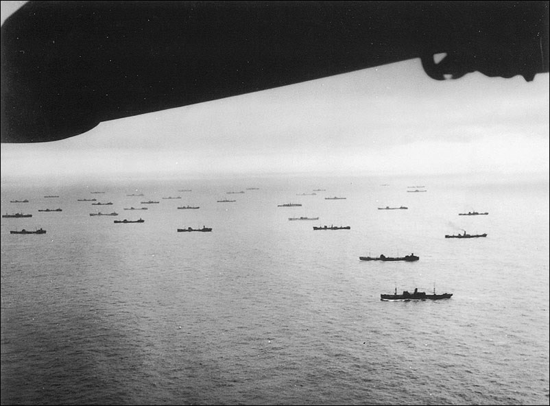 Photo of fleet of ships.