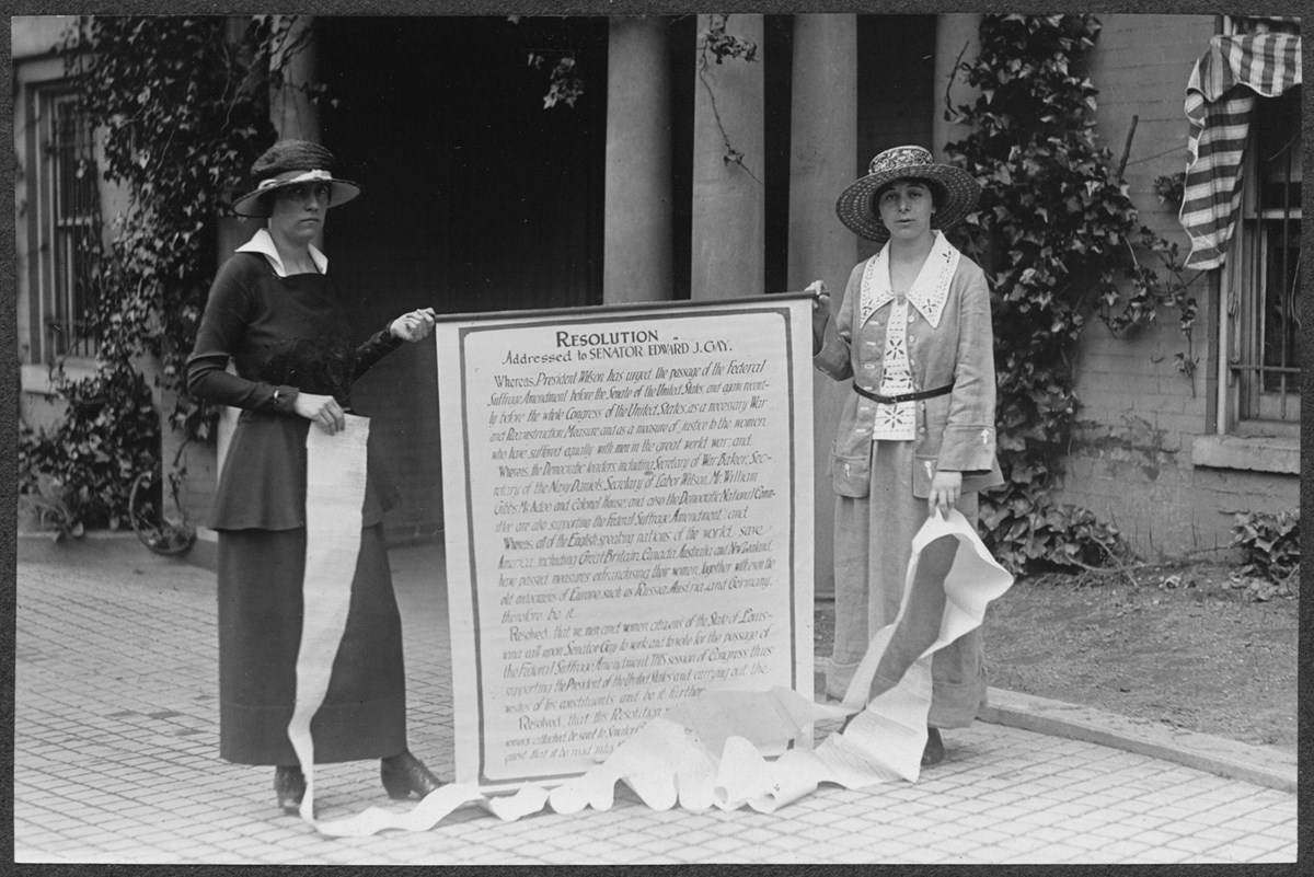 Mary Gertrude Fendall of Maryland (left) and Mary Dubrow of New Jersey (right).