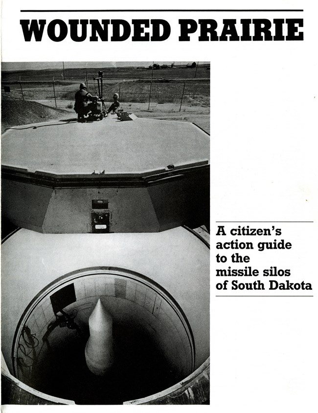 Cover for a map of missile silos in South Dakota showing an open silo