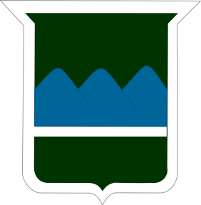 Dark green patch with blue mountains to represent Blue Ridge Division