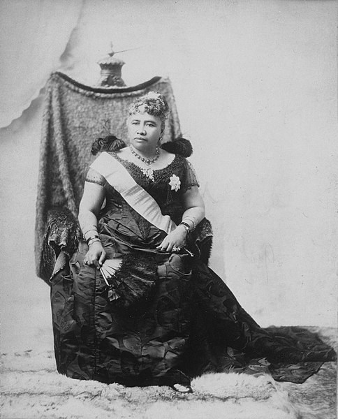 Queen Liliuokalani in 1891 Public Domain Honolulu Star Bulletin Nov 12 1917