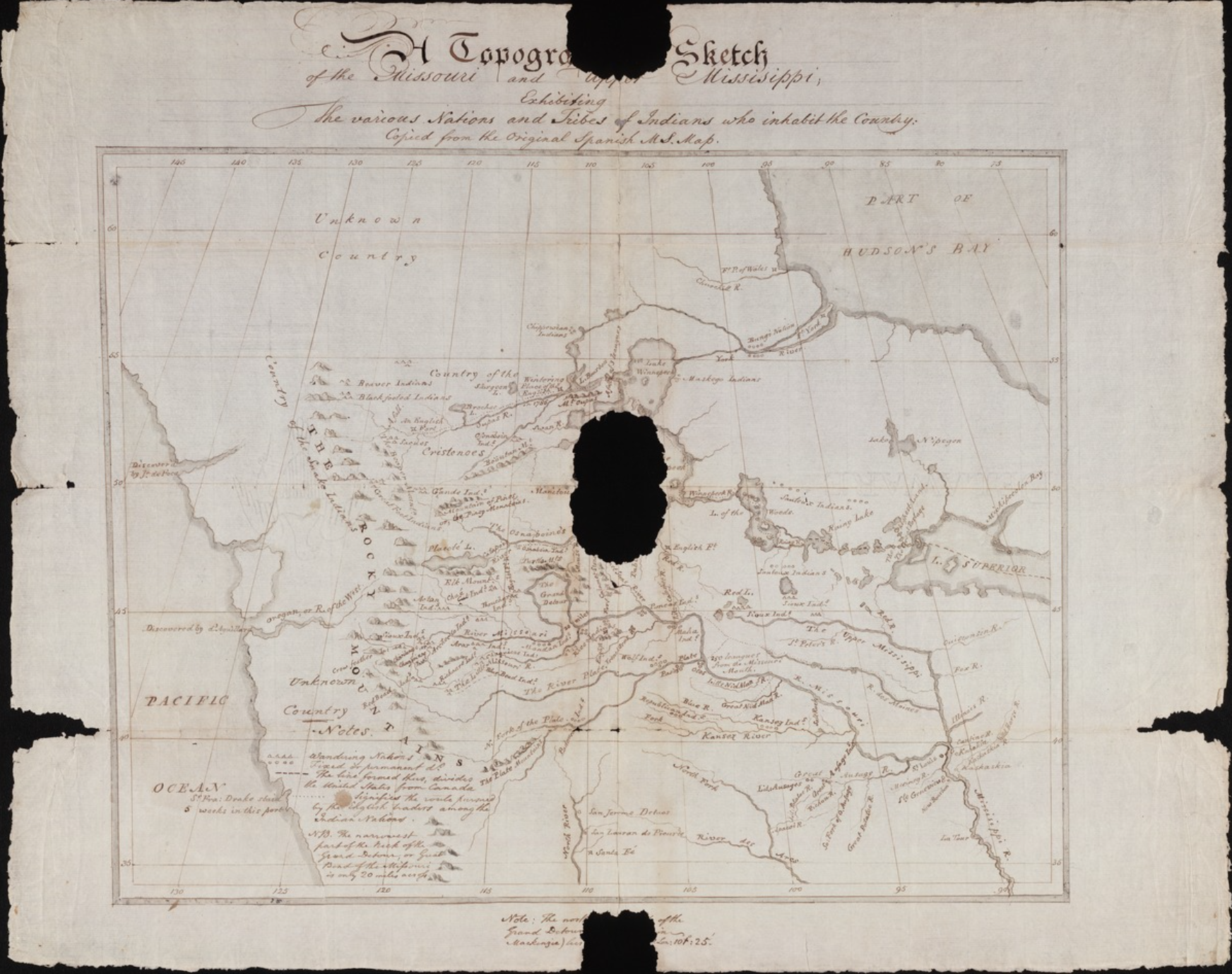 Soulard map: a pre-expeditionary planning tool for Lewis and Clark ...
