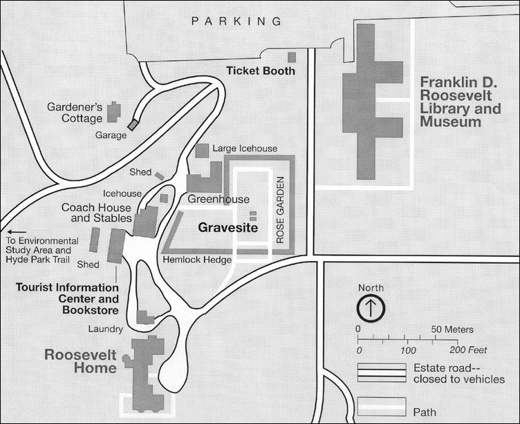 Map of Springwood and its grounds today.