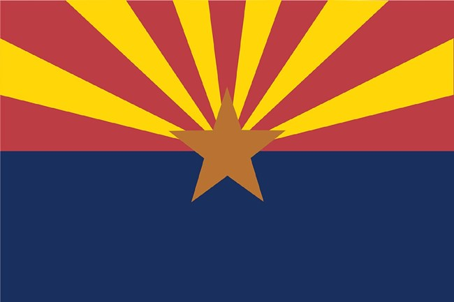 Arizona State flag, CC0
