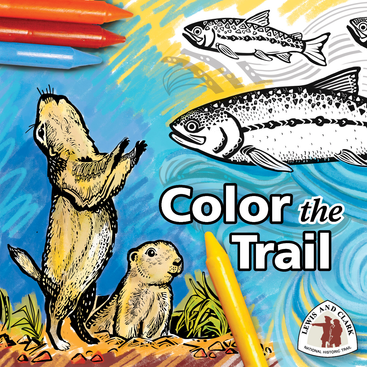 Lewis and Clark Expedition Coloring Page | crayola.com | 1200x1200