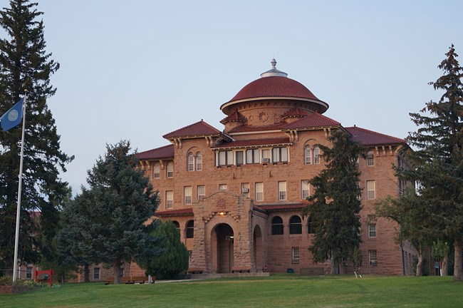 Exterior of the Battle Mountain Sanitarium