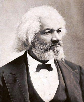 Photograph of an older Frederick Douglass with white hair.
