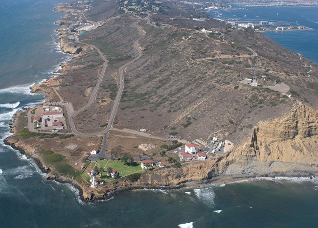 aerial view of point loma