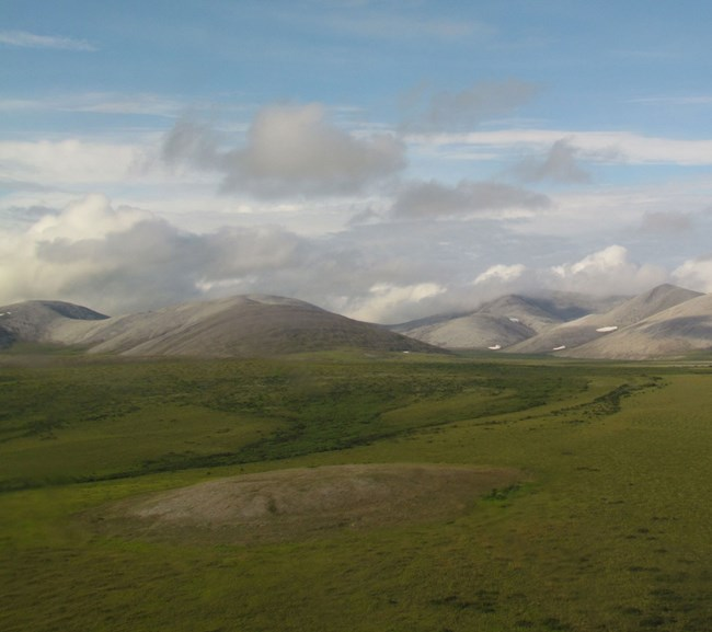 tundra and rolling hills