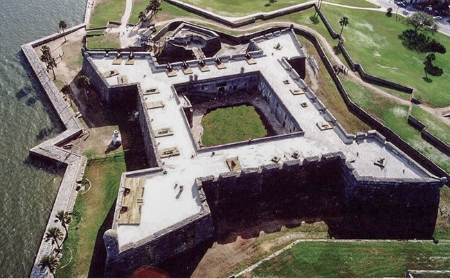 aerial view of fortress