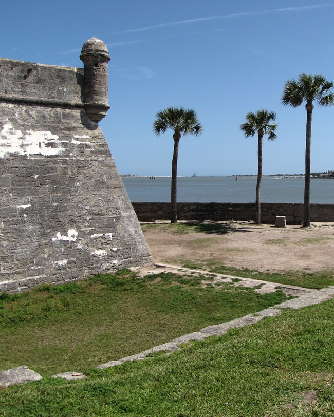 fortress wall and bay beyond
