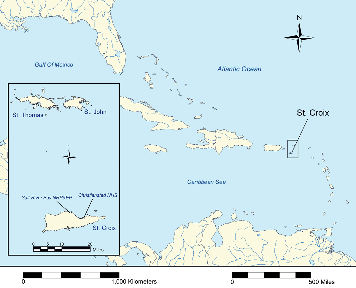 general map of caribbean and st croix