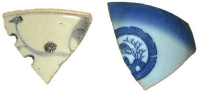 Chinese and Japanese sherds from Channel Island.