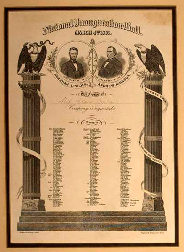 Invitation to Inaugural Ball. (Courtesy Clara Barton National Historic Site, National Park Service, U.S. Department of the Interior)