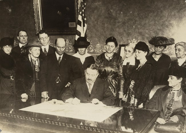 Colorado's ratification of the 19th Amendment on Dec. 12, 1919. Library of Congress.