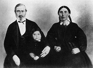 Culbertson family photo  (circa 1840s). Father, Mother , Son