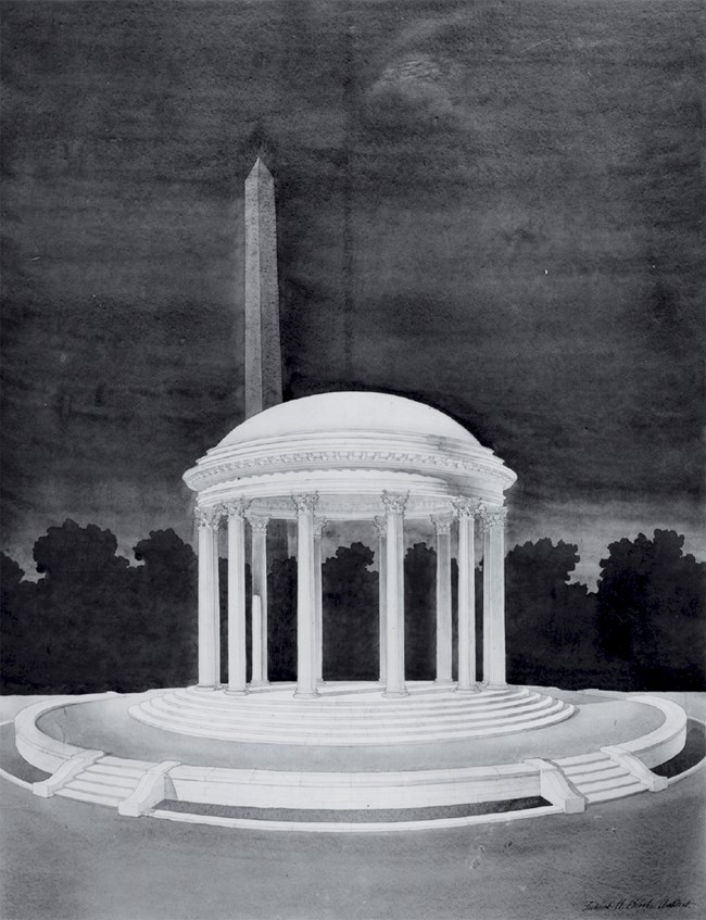 Early Sketch of the DC War Memorial