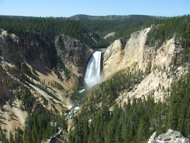 Lower Falls in Yellowstone NP