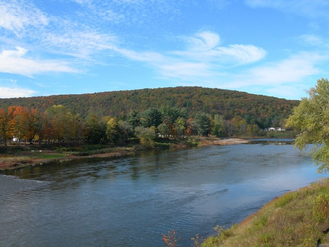 View of the Lackawaxen Access on the Delaware River.