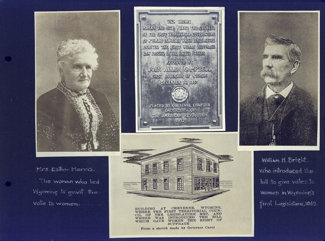 scrapbook page. Collections of Bryn Mawr College Library