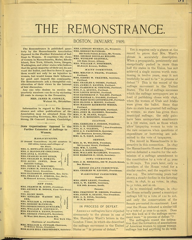The Remonstrance. Coll. Library of Congress