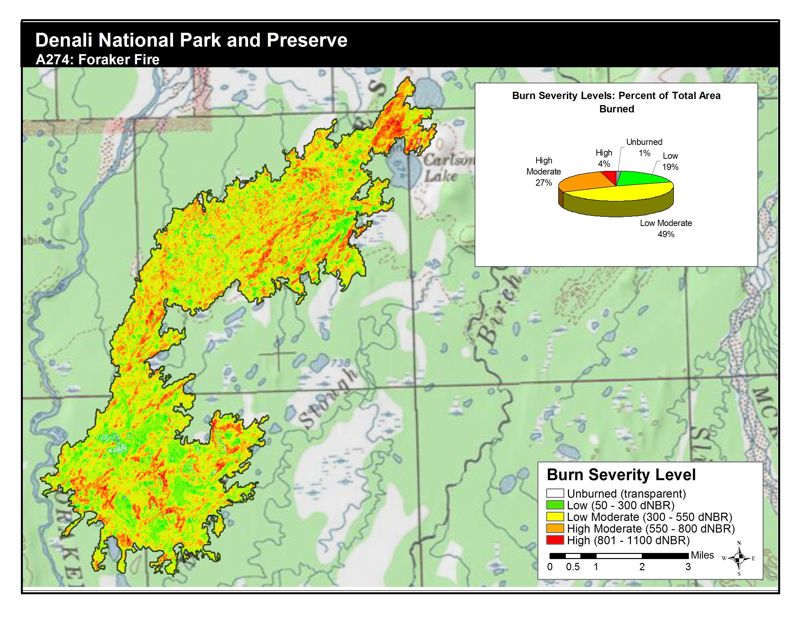 High Park Fire Map.Space Based Burn Severity Mapping In Alaska S National Parks U S