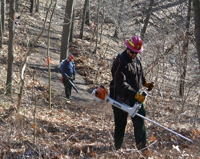Fire crews prepare control lines for 2017 Cowles Dune RX
