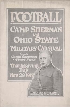 A man in military uniform on the cover of a football program