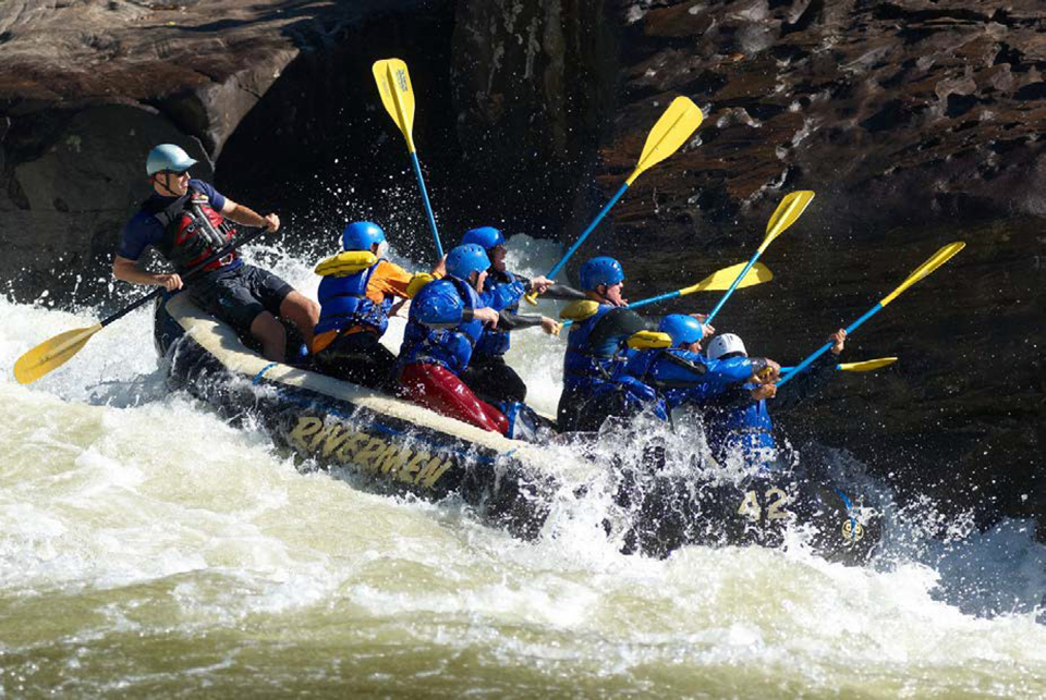 Whitewater rafters on the upper Gauley River