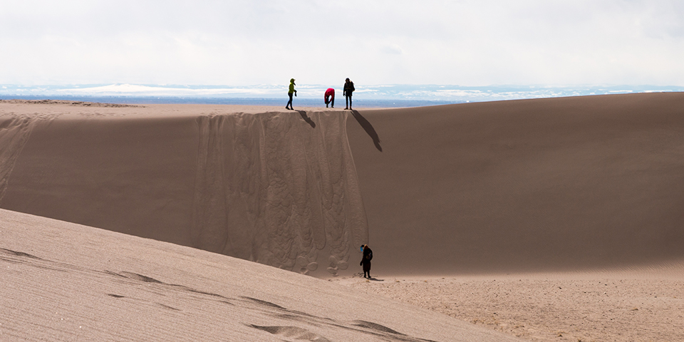 Visitors at Great Sand Dunes