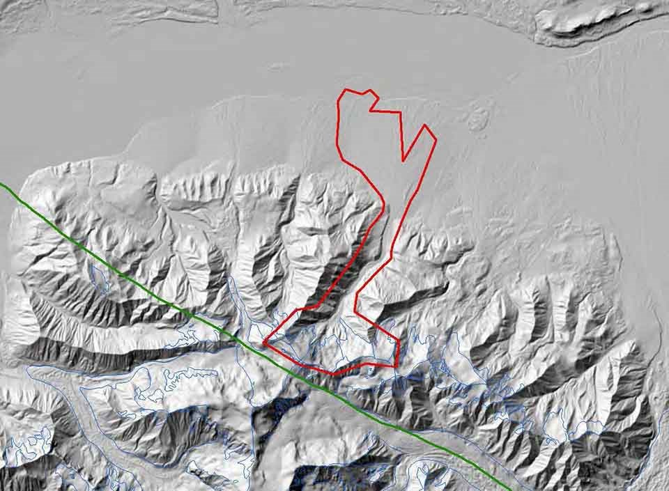 map of slide area