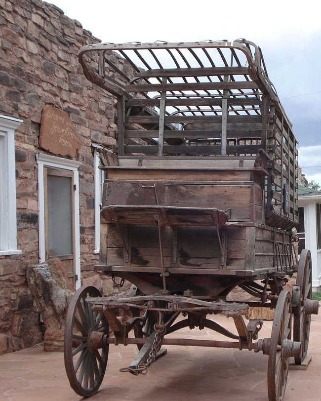 historic wagon—civil war ambulance